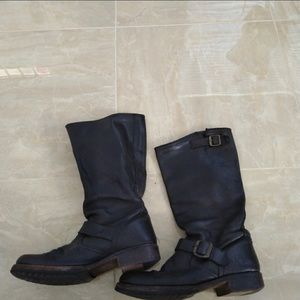 Frye Veronica Black Slouch Boots 8.5